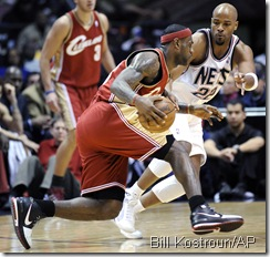 The heated LeBron-Jarvis Hayes matchup last November