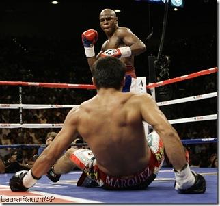 APTOPIX Mayweather Marquez Boxing