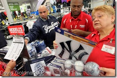 Making the cash registers sing the morning after at Modell's in the Bronx
