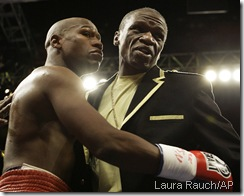Following dad's lead: Floyd Sr. has been biggest accuser of Manny, though most people just chalk it up to him being crazy