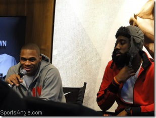 Westbrook/Harden take some questions