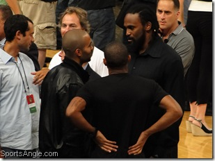 Not playing for France: Parker, Turiaf, Thierry Henry