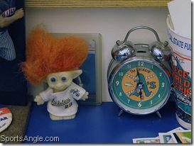Troll and clock