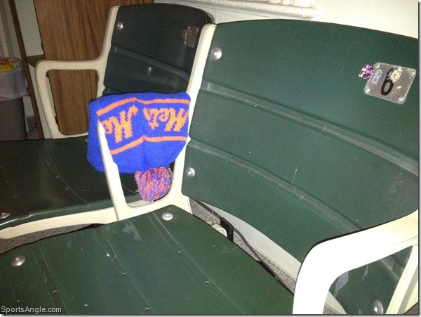 Seats from 1962, ski hat from 1989